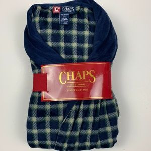 Chaps Blue and Green Checkered Comfort- Soft Robe